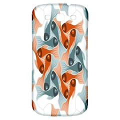 Make Tessellation Fish Tessellation Blue White Samsung Galaxy S3 S Iii Classic Hardshell Back Case by Mariart