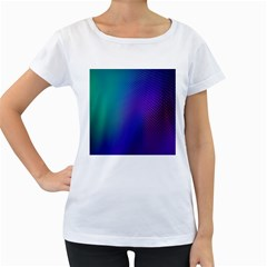 Galaxy Blue Purple Women s Loose-Fit T-Shirt (White) by Mariart