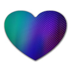 Galaxy Blue Purple Heart Mousepads by Mariart