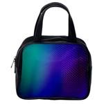 Galaxy Blue Purple Classic Handbags (2 Sides) Back