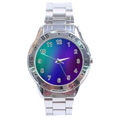 Galaxy Blue Purple Stainless Steel Analogue Watch by Mariart
