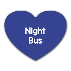Night Bus New Blue Heart Mousepads by Mariart