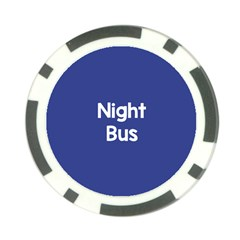 Night Bus New Blue Poker Chip Card Guard