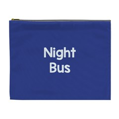 Night Bus New Blue Cosmetic Bag (xl) by Mariart