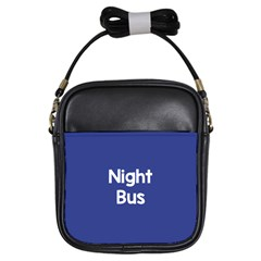 Night Bus New Blue Girls Sling Bags by Mariart