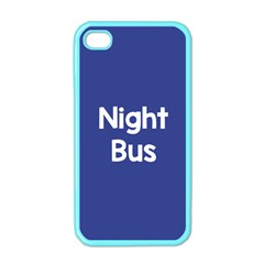 Night Bus New Blue Apple Iphone 4 Case (color) by Mariart