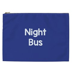 Night Bus New Blue Cosmetic Bag (xxl)  by Mariart