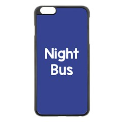 Night Bus New Blue Apple Iphone 6 Plus/6s Plus Black Enamel Case by Mariart