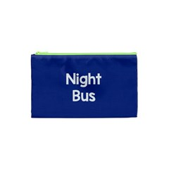 Night Bus New Blue Cosmetic Bag (xs) by Mariart