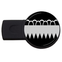 Noir Gender Flags Wave Waves Chevron Circle Black Grey Usb Flash Drive Round (2 Gb) by Mariart