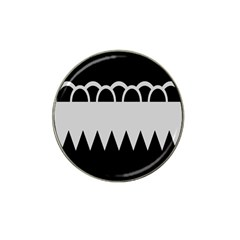 Noir Gender Flags Wave Waves Chevron Circle Black Grey Hat Clip Ball Marker by Mariart