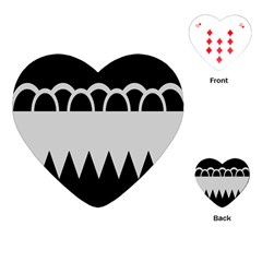 Noir Gender Flags Wave Waves Chevron Circle Black Grey Playing Cards (heart)  by Mariart
