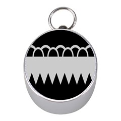 Noir Gender Flags Wave Waves Chevron Circle Black Grey Mini Silver Compasses by Mariart