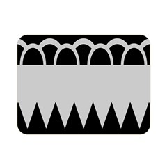Noir Gender Flags Wave Waves Chevron Circle Black Grey Double Sided Flano Blanket (mini)  by Mariart