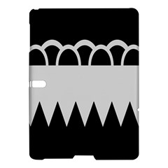 Noir Gender Flags Wave Waves Chevron Circle Black Grey Samsung Galaxy Tab S (10 5 ) Hardshell Case  by Mariart