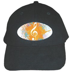 Musical Notes Black Cap by Mariart