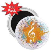 Musical Notes 2 25  Magnets (100 Pack)  by Mariart