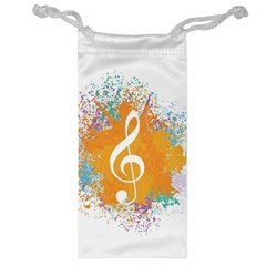 Musical Notes Jewelry Bag by Mariart