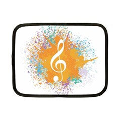 Musical Notes Netbook Case (small)  by Mariart