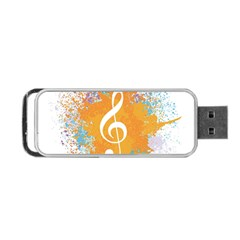 Musical Notes Portable Usb Flash (two Sides) by Mariart