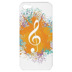 Musical Notes Apple Iphone 5 Hardshell Case by Mariart