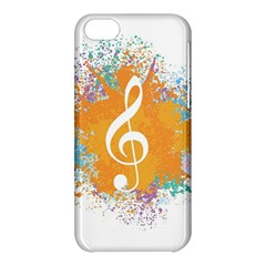 Musical Notes Apple Iphone 5c Hardshell Case by Mariart