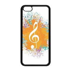 Musical Notes Apple Iphone 5c Seamless Case (black) by Mariart