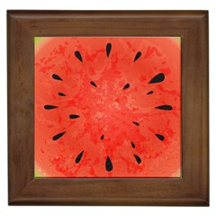 Summer Watermelon Design Framed Tiles by TastefulDesigns