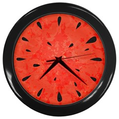 Summer Watermelon Design Wall Clocks (black) by TastefulDesigns
