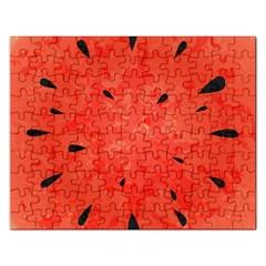 Summer Watermelon Design Rectangular Jigsaw Puzzl by TastefulDesigns