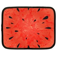 Summer Watermelon Design Netbook Case (large) by TastefulDesigns