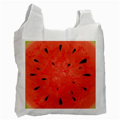 Summer Watermelon Design Recycle Bag (two Side)  by TastefulDesigns