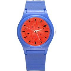 Summer Watermelon Design Round Plastic Sport Watch (s) by TastefulDesigns