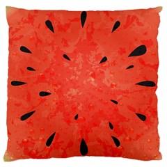 Summer Watermelon Design Large Cushion Case (one Side) by TastefulDesigns