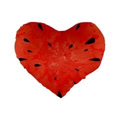 Summer Watermelon Design Standard 16  Premium Heart Shape Cushions by TastefulDesigns