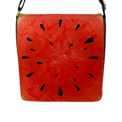 Summer Watermelon Design Flap Messenger Bag (l)  by TastefulDesigns