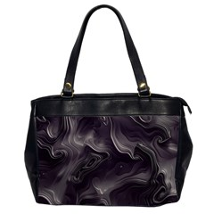 Map Curves Dark Office Handbags (2 Sides)  by Mariart
