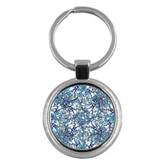 Modern Nouveau Pattern Key Chains (round)  by dflcprints