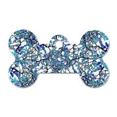 Modern Nouveau Pattern Dog Tag Bone (one Side) by dflcprints