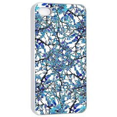 Modern Nouveau Pattern Apple Iphone 4/4s Seamless Case (white) by dflcprints