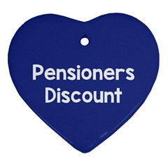 Pensioners Discount Sale Blue Ornament (heart) by Mariart