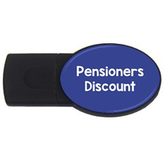 Pensioners Discount Sale Blue Usb Flash Drive Oval (4 Gb) by Mariart