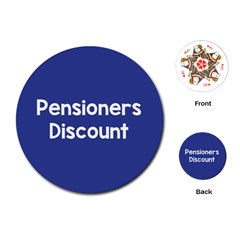 Pensioners Discount Sale Blue Playing Cards (round)  by Mariart