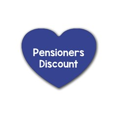 Pensioners Discount Sale Blue Rubber Coaster (heart)  by Mariart