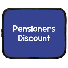Pensioners Discount Sale Blue Netbook Case (xl)  by Mariart