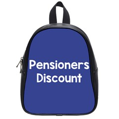 Pensioners Discount Sale Blue School Bags (small)  by Mariart