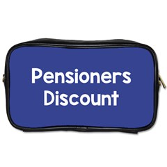Pensioners Discount Sale Blue Toiletries Bags by Mariart