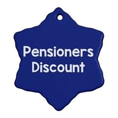 Pensioners Discount Sale Blue Ornament (snowflake) by Mariart