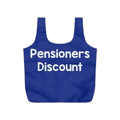 Pensioners Discount Sale Blue Full Print Recycle Bags (s)  by Mariart
