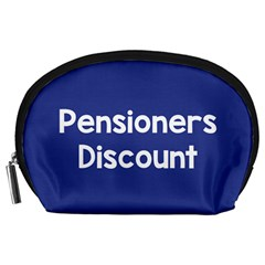 Pensioners Discount Sale Blue Accessory Pouches (large)  by Mariart